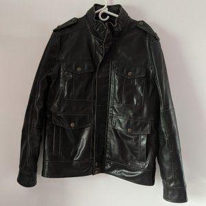 Men's Levi's Dark Brown Faux Leather Jacket, M